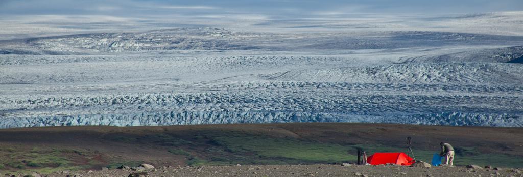 Лагерь у ледника