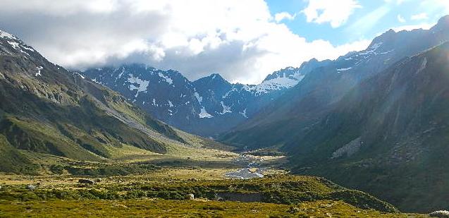 Горные пейзажи Новой Зеландии